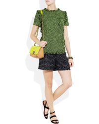 Lanvin Green Tweed Short-sleeve Top