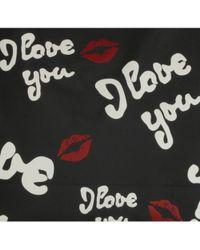 Lulu Guinness - Black I Love You City Tote - Lyst