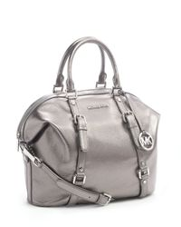 Michael Kors - Metallic Bedford Medium Satchel, Gunmetal - Lyst