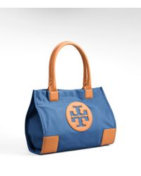 Tory Burch - Blue Nylon Mini Ella Tote - Lyst