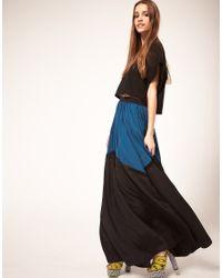 ASOS Collection | Black Asos Maxi Skirt in Colour Block | Lyst