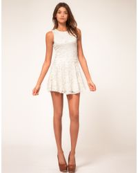 ASOS Collection - Black Asos Petite Exclusive Lace Skater Dress - Lyst