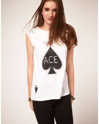 ASOS Collection | White Asos Ace T-Shirt | Lyst