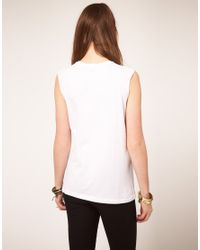 ASOS Collection - White Asos Ace T-Shirt - Lyst