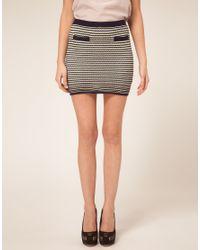 ASOS Collection - Multicolor Asos Petite Exclusive Stitch Detail Skirt - Lyst