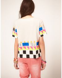 ASOS Collection | Purple Tshirt with Neon Blocked Hem | Lyst