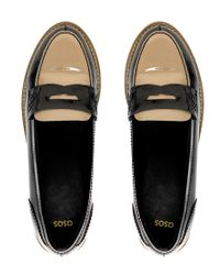 ASOS - Black Asos Macabee Patent Leather Loafers - Lyst