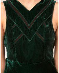 House of Dagmar | Green Dagmar Velvet Dress With Low Draped Back | Lyst