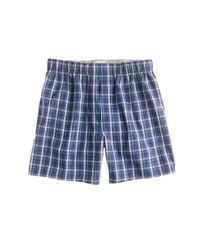 J.Crew | Blue Highland Plaid Boxers for Men | Lyst