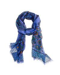 J.Crew | Blue Vibrant Paisley Scarf | Lyst