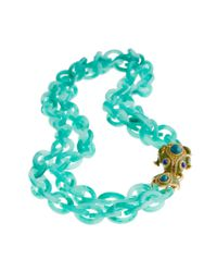 J.Crew | Blue Double-strand Resin Link Frog Necklace | Lyst
