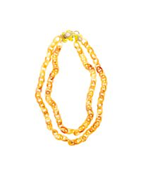 J.Crew | Yellow Double-strand Resin Link Frog Necklace | Lyst