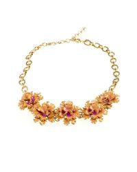 J.Crew | Pink Carnation Necklace | Lyst