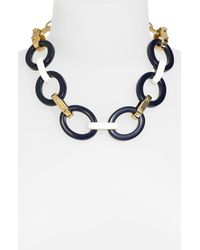 kate spade new york | Blue Anchors Away Long Link Necklace | Lyst