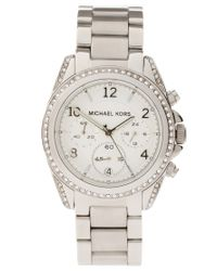Michael Kors | Metallic Blair Mk5165 Silver Chronograph Watch | Lyst