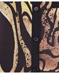 Proenza Schouler | Yellow Abstract Print Silk Shirt Dress | Lyst