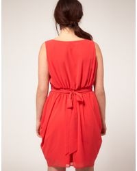 ASOS - Red Curve Tulip Dress - Lyst
