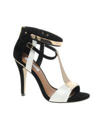 River Island - Natural Taffy T Bar Heels - Lyst