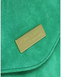 River Island - Green Suede Envelope Clutch Bag - Lyst