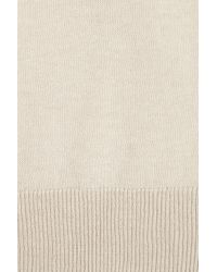 T By Alexander Wang White Open-weave Back Cotton Sweater