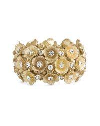 Tasha   Metallic Floral Cluster Stretch Bracelet   Lyst