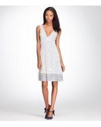 Tory Burch | Natural Sullivan Silk Dress | Lyst