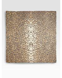 Alexander McQueen | Multicolor Leopard Skull Silk Chiffon Scarf | Lyst