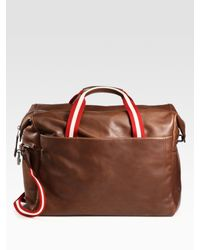 Bally | Brown Leather Duffle for Men | Lyst