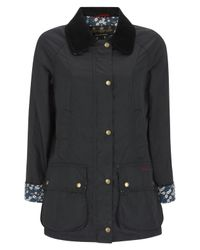 Barbour | Blue Mitsi Liberty Print Navy Wax Jacket | Lyst