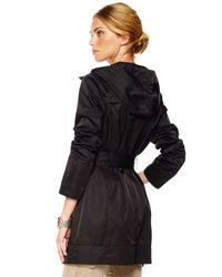 Michael Kors | Black Packable Zip Trench | Lyst