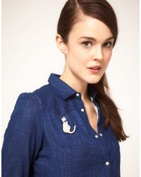 NW3 by Hobbs | Natural Nw3 Beau Cat Brooch | Lyst