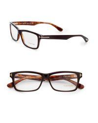 Tom Ford | Brown Square Acetate Frames for Men | Lyst