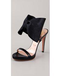 Viktor & Rolf | Black High Heel Bow Sandals | Lyst