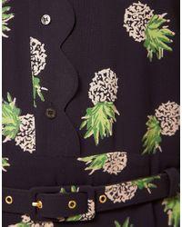 Whistles - Black Beatrice Pineapple Print Dress - Lyst