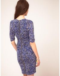 Whistles - Blue Bella Bodycon Dress In Multipetal Print - Lyst