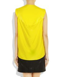 Zero + Maria Cornejo | Yellow Ines Stretch-Silk Top | Lyst