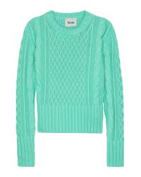 Acne | Blue Lia Cable Knit Sweater | Lyst