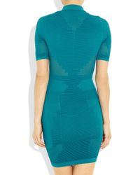Alexander Wang | Blue Mesh-Paneled Stretch-Jersey Dress | Lyst