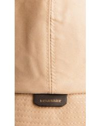 Burberry | Natural Gabardine Rain Hat | Lyst