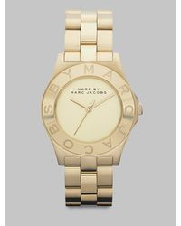Marc By Marc Jacobs | Metallic Gold-finished Stainless Steel Bracelet Watch | Lyst