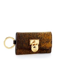 Michael Kors | Brown Hamilton Key Case, Mocha | Lyst