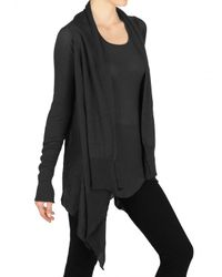 Rick Owens - Black Bamboo Knit Cardigan Sweater - Lyst