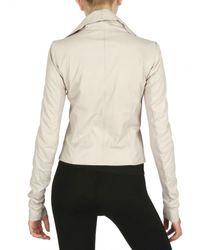 Rick Owens - Natural Biker Velo Leather Jacket - Lyst