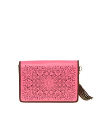 River Island | Pink Neon Laser Cut Clutch Bag | Lyst
