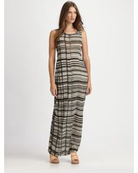 Acne Studios | Natural Colleen Striped Jersey Dress | Lyst
