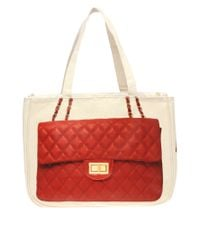 Thursday Friday - Natural Thursday Friday Diamonds Red Tote - Lyst