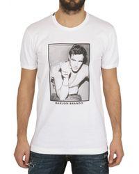 Dolce & Gabbana White Marlon Brando Printed Jersey T-shirt for men