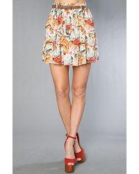 MINKPINK | Multicolor Minkpink Four Seasons Belted Skirt | Lyst