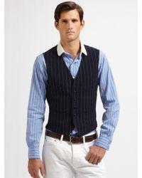 Polo Ralph Lauren | Black Skylark Pinstriped Vest for Men | Lyst