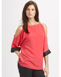 Sachin & Babi | Red Irylianna Open Shoulder Top | Lyst